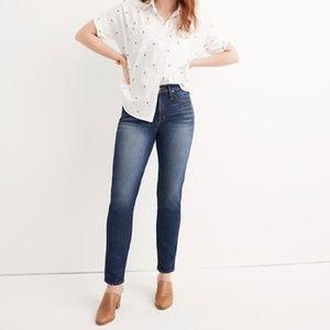 Madewell | Taller Slim Straight Jeans William Wash
